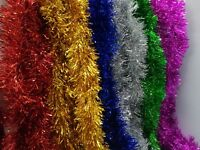Tinsel Christmas Tree Decorations X'mas Garland 2m x90mm variety of colours