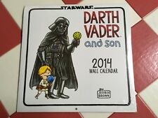 STAR WARS Darth Vader and son Calendar 2014 Brand New LUCAS BOOKS Jeffrey Brown