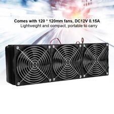 18 Rohre Gewinde 360mm CPU Wasserkühler PC Lüfter Flüssigwärmetauscher Cooling❤