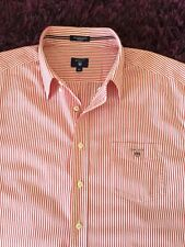 Smart 100% Genuine Mens Gant Red & White Striped Short Sleeve Shirt In 2XL