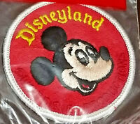 Vintage 70s Disneyland Mickey Mouse Character Patch Walt Disney Productions NIP