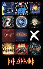 "DEF LEPPARD album cover discography magnet (3"" X 4.5"") ac/dc motley crue maiden"