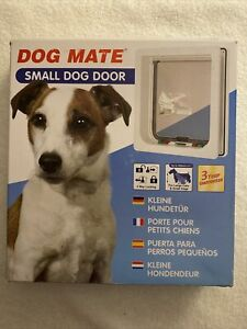 """Dog Mate Small Pet Door - New - Up To 14"""" Dogs And Cats"""