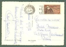 Storia Postale. REPUBBLICA ITALIANA. Lire 25 CARDINALE MASSAIA su cartolina...