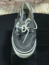 Sperry Top-Sider 2-Eye Men's Gray canvas Boat Shoe size 10M D12-CH241