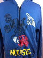 Disney Hoodie M Blue Micky Mouse It All Started With Mickey / Nice Soft Quality