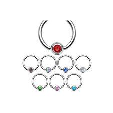 8er SET Intimpiercing Klitoris BCR-Ring Piercing