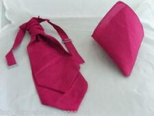 (GG) Raspberry Rose-BOYS Scrunchie Ruche Wedding Tie-Cravat & Hanky Set>Page Boy