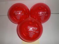 "SET OF 2 RED JUMBO GIANT 4"" SUPER BALLS EXTRA HIGH BOUNCE"