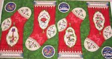 12 Twelve Days of Christmas Stocking Panel Fabric