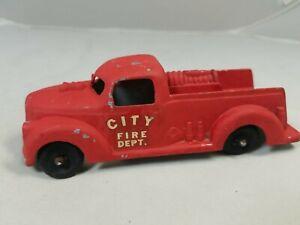 Vintage 1950's City Fire Dept. Diecast Fire Truck Diecast Metal Firetruck