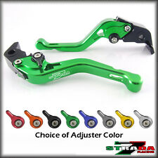 Strada 7 CNC Shorty Adjustable Levers Yamaha YZF R1 2009 - 2014 Green