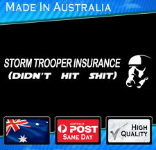 Car Sticker - Storm Trooper Bumper Sticker white  Star Wars Funny Decal