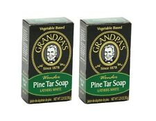 Original Grandpa's Wonder Pine Tar Soap Made In USA 3.25 Oz / 92 g