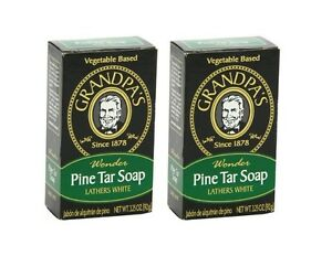 Original Grandpa's Wonder Pine Tar Soap Made In USA 3.25 Oz / 92 g NEW in BOX