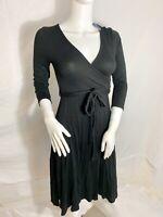 NEW Black Maternity Nursing Breastfeeding Dress 3/4 Sleeve PINK BLUSH S Small