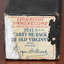 Imperial Songrecord Piano Roll 9241 Carry Me Back to Old Virginny R Hilliard