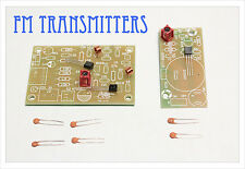 DIY electronic Kit - 2 FM radio transmitter bug pcb kit mic audio sound module