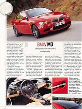 2008 BMW M3 Original Car Review Print Article J545