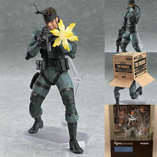 Anime Gift Solid Snake Metal Gear Solid 2 PVC Action Figure Figma243 No Box 15cm