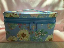 Yumi Kim Floral Jetsetter Make-Up Train Case Blue Travel Organizer