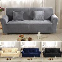 Couverture de canapé Sofa Housse Protector doux Velours Peluche 1-3 siège