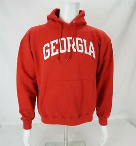 Champion Georgia Bulldogs Hoodie Sweatshirt Red/White Men's Medium