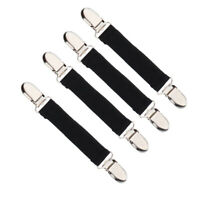 4Pcs Stretchy Stainless Steel Glove Mitten Clip Clasp Grip Non-slip Black