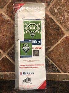 Seattle Sounders FC Premium Garden Flag Applique & Embroidered Banner Soccer MLS