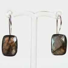 925 Sterling Silver Semi-Precious Natural Stone drop Earrings - Labradorite