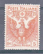 REGNO - 1916 - 20+5 cent Croce Rossa (105) - Centratissimo - MHN