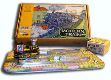 CIRCUIT TRAIN MECANIQUE à clef jouet en tole old toys tin toys jouet ancien