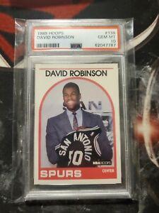 1989 David Robinson Hoops PSA 10 Rookie #138