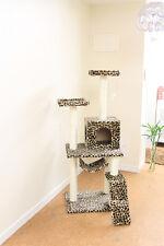 """New Leopard Skin 57"""" Cat Tree Condo Furniture Scratch Post Pet House 5777"""