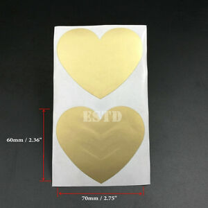 Scratch Off Stickers Label 60mm x 70mm Gold love Style Party Games 100PCS