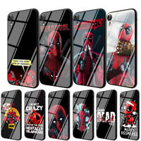 Deadpool Anime TPU Glass Case for iPhone 8 7 6 6S Plus X XS 11 Pro Max XR Cover