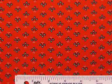 Christmas Mistletoe & Holly Red Holiday Cotton Fabric  BTY  (A3) #