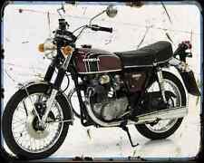 HONDA CB 250K2 A4 métal signe Moto Vintage Aged