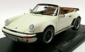 Norev 1/18 Diecast Model 187661 - Porsche 911 Turbo Cabriolet 1987 - Ivory