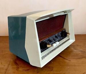 Ancien poste radio TSF PHILIPS  Le Corbusier B2F72A,RA248A design vintage 50-60