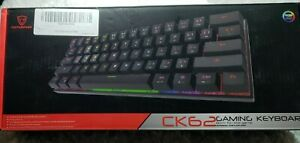 CK62 Motospeed Wired/Wireless Gaming Keyboard White.RGB backlight.USB cable.