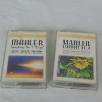 Lot of 2 Gustav Mahler Symphony 1 & 4 London Symphony Orchestra Cassettes
