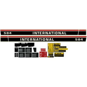 NEW 584 INTERNATIONAL HARVESTER FARMALL TRACTOR DECAL KIT HIGH QUALITY 🎯