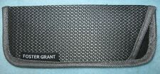 "FOSTER GRANT Eye Glasses Case; Gray Soft Pouch 6 1/4"" Gray on Gray Stripe Design"