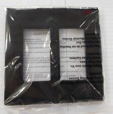 Eaton Decorator Wallplate 2 Gang  - No Visible Screw - Black NEW