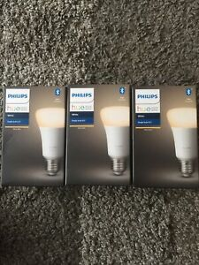 Philips Hue E27 White Smart Bulb with Bluetooth x 3(3 Bulbs For Just £19.99)BNIB