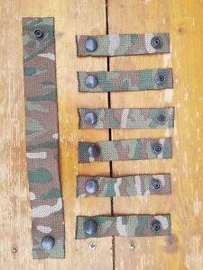 British Army Osprey MK4 /4A Rank Strap & 6X Attachment Straps MTP Grade 1 TYPE C