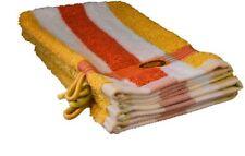 Articles et textiles gants de toilette jaunes coton pour la salle de bain