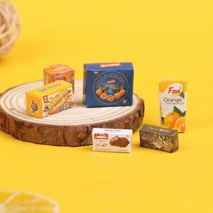 6Pcs/Set 1/12 Dollhouse Miniature Food And Beverage Case Box Model ToysB.BI