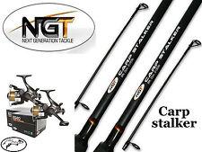 2 CARP FISHING STALKER RODS 8FT & 2 EG40 REEL BAIT FREE RUNNER NGT COARSE TACKLE